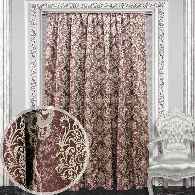 Портьера Amore Mio, 200 х 270 см, 1 шт., цвет: бордовый. 8446884468