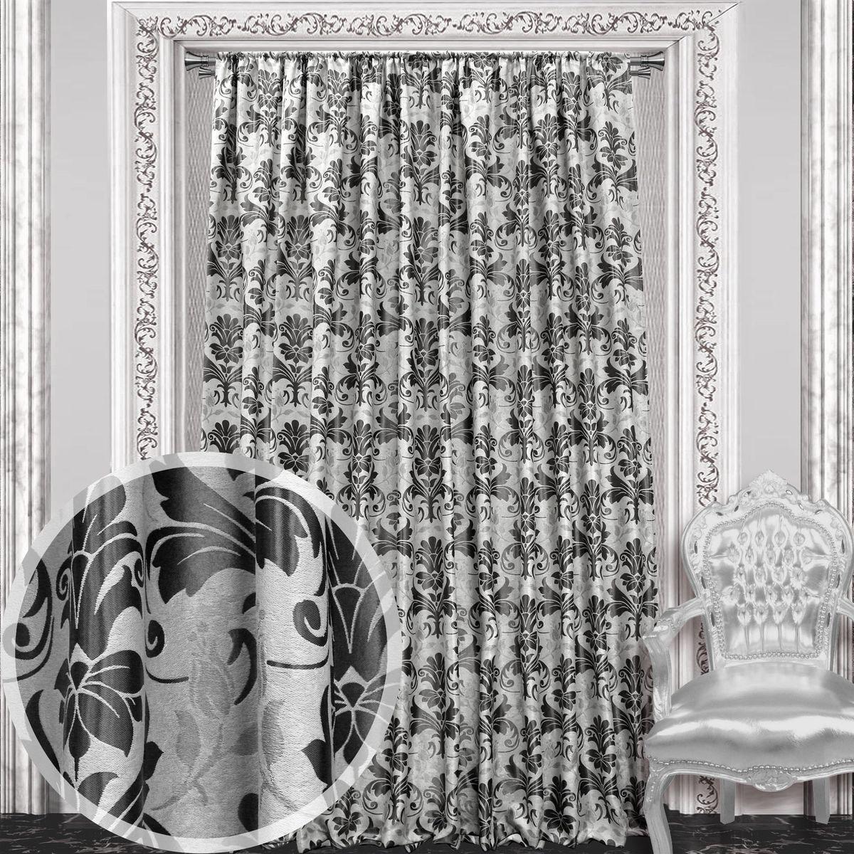 Штора Amore Mio, 200 х 270 см, 1 шт., цвет: черный. 8604886048