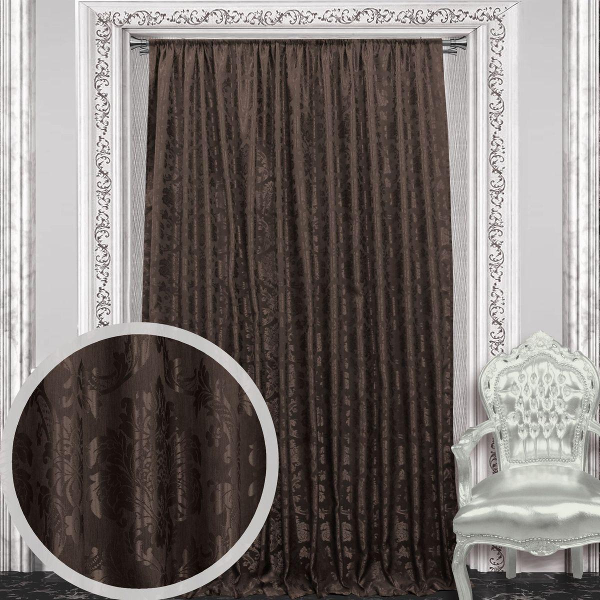 Штора Amore 200 х 270 см, 1 шт., цвет: коричневый. 8605386053