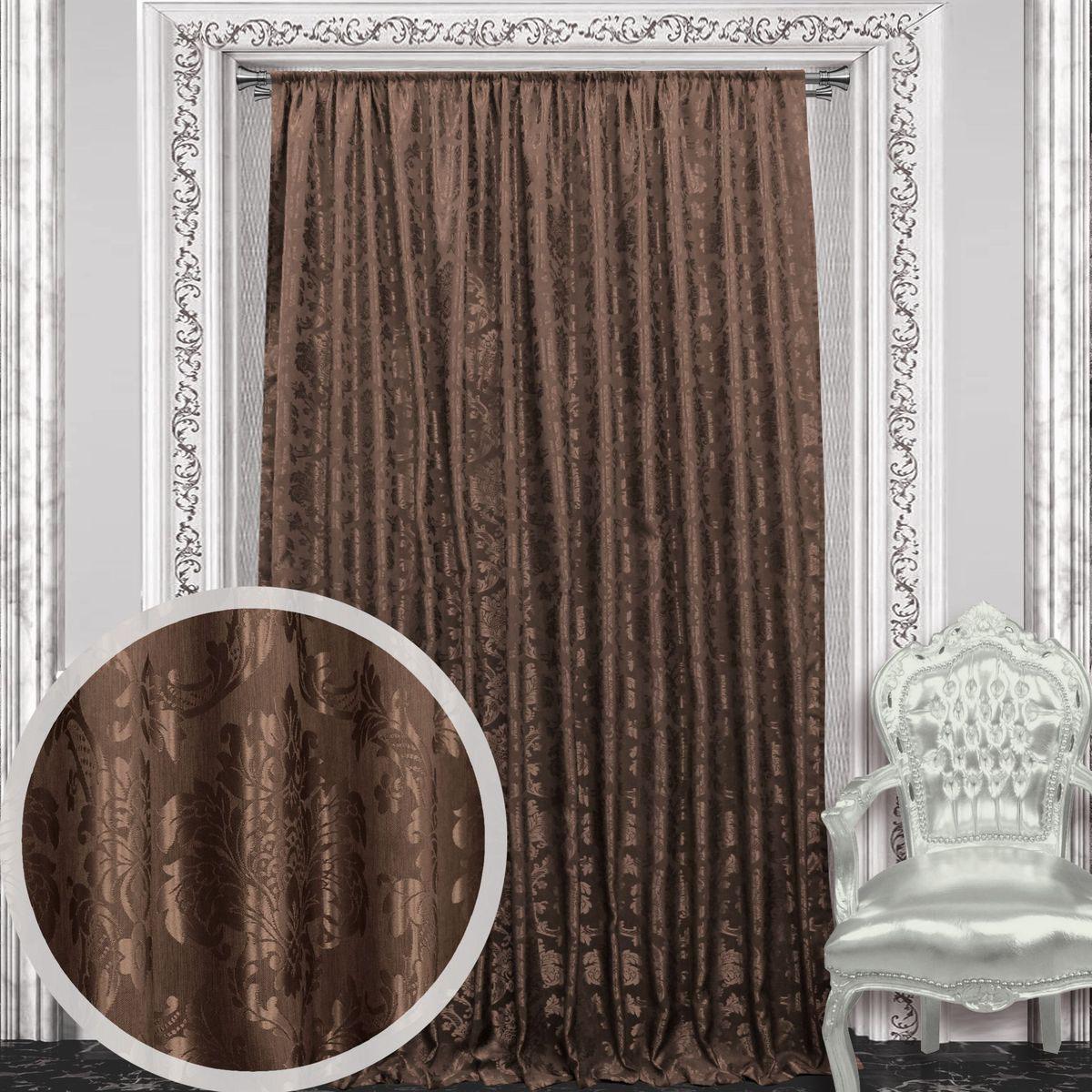 Штора Amore Mio, 200 х 270 см, 1 шт., цвет: коричневый. 8605486054