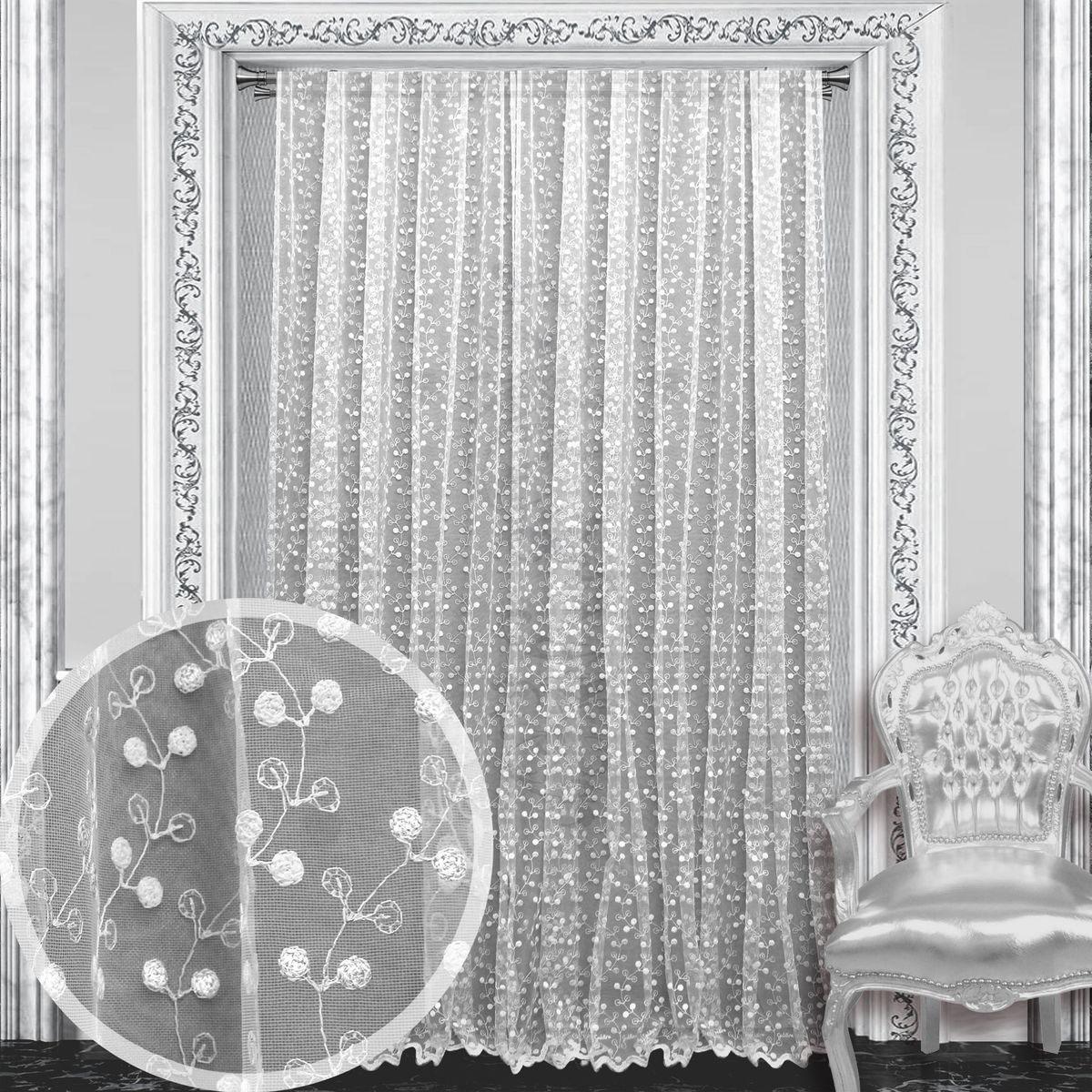 Тюль Amore Mio, 300 х 270 см, 1 шт., цвет: белый. 8611286112