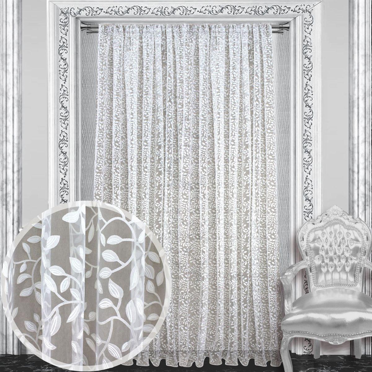 Тюль Amore Mio, 300 х 270 см, 1 шт., цвет: белый. 8611586115