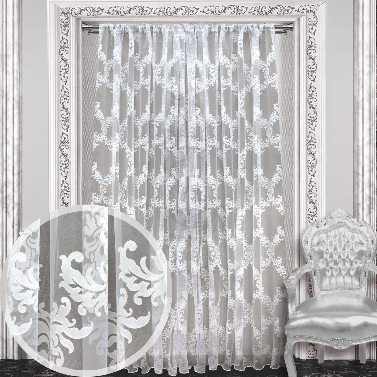 Тюль Amore Mio, 300 х 270 см, 1 шт., цвет: белый. 8611686116