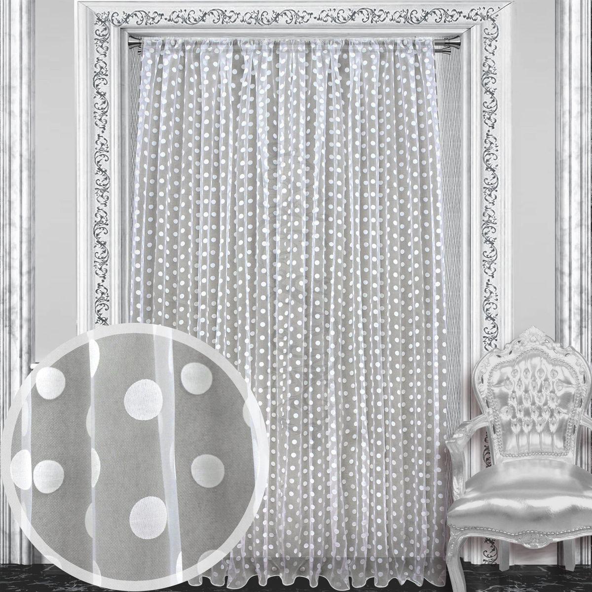Тюль Amore Mio, 300 х 270 см, 1 шт., цвет: белый. 8611786117