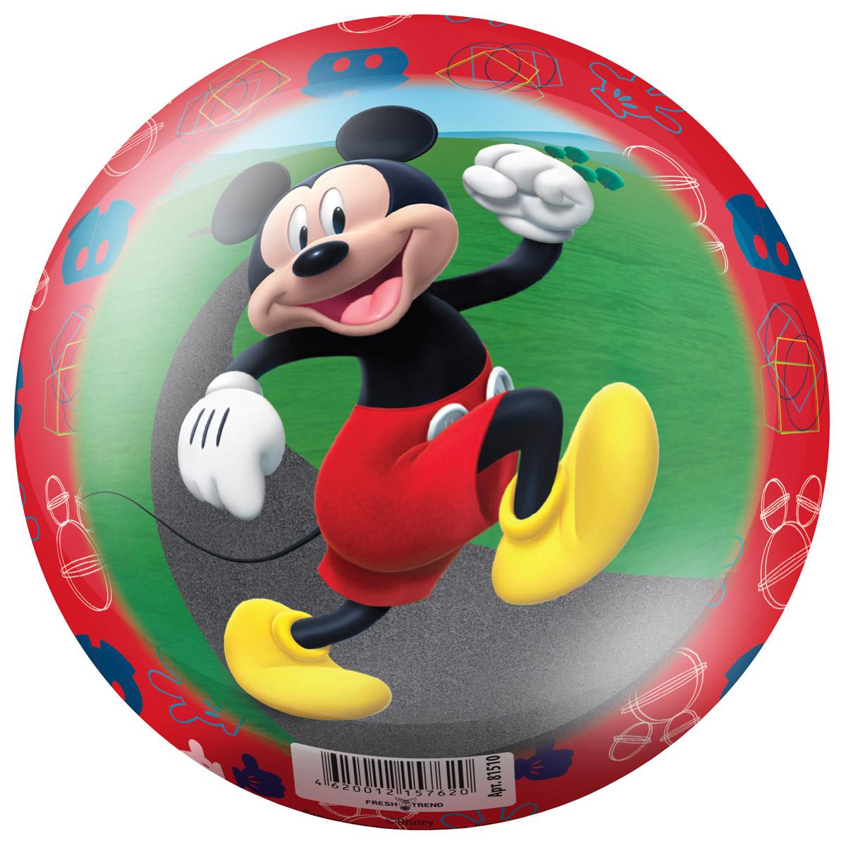 Fresh Trend Мяч Микки цвет красный 15 см