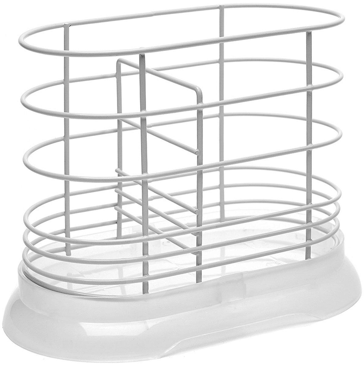 Подставка для столовых приборов Walmer, цвет: белый, 16 x 8,5 x 13,5 смW14161388