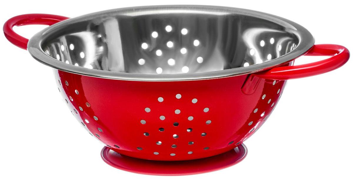 Дуршлаг Walmer Holly, цвет: красный, диаметр 22 смW26020222