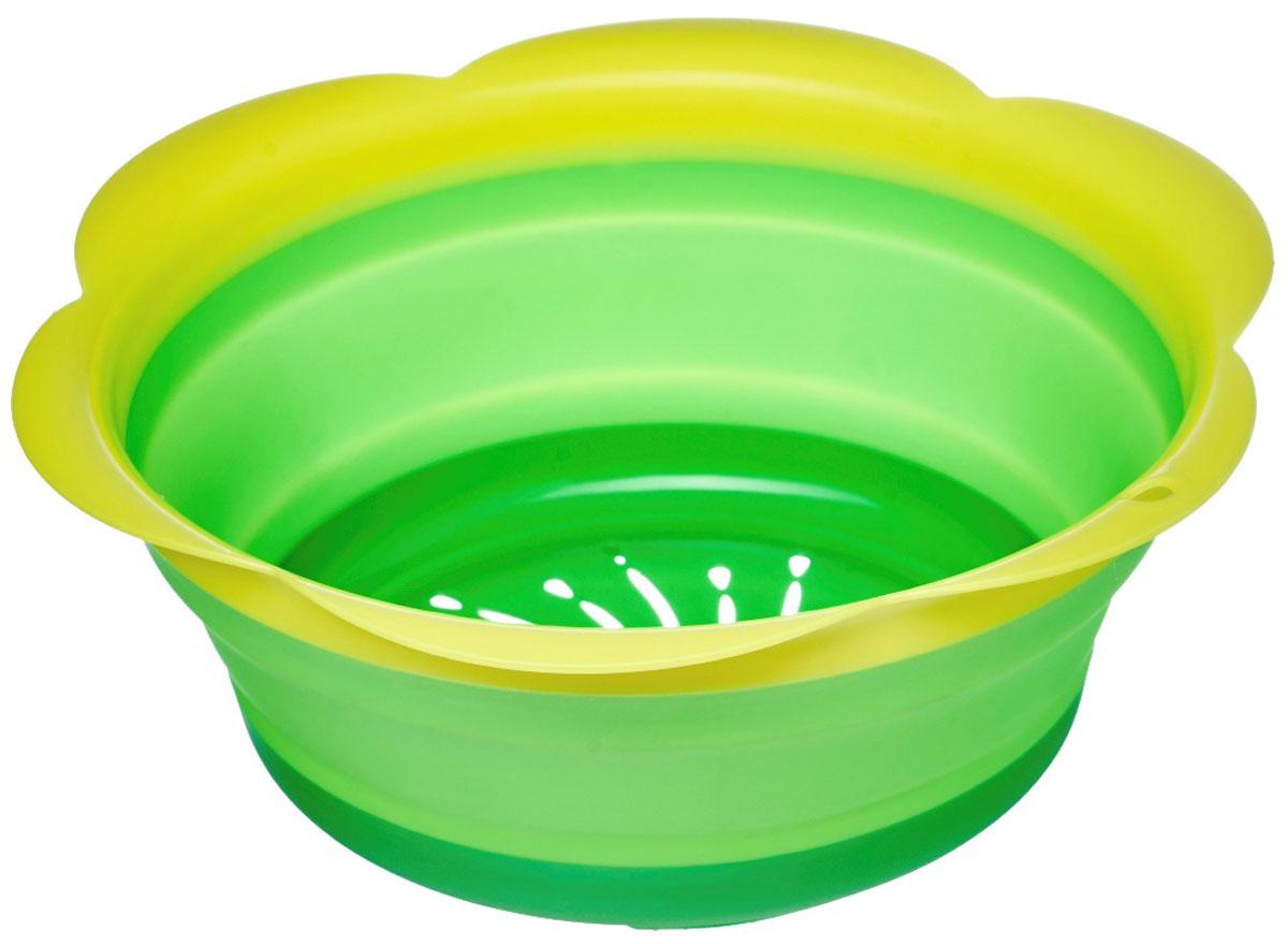 Дуршлаг Walmer Rainbow, складной, цвет: зеленый, диаметр 22 смW26030522