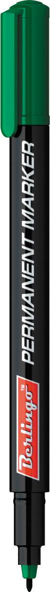 Berlingo Маркер перманентный цвет зеленый PM6321PM6321Перманентный маркер Berlingo подходит для письма на любых поверхностях. Чернила изготовлены на спиртовой основе. Плотный колпачок с клипом надежно предотвращает высыхание. Цвет колпачка соответствует цвету чернил. Закругленный пишущий узел. Ширина линии - 1 мм. Длина непрерывной линии - 500 м.