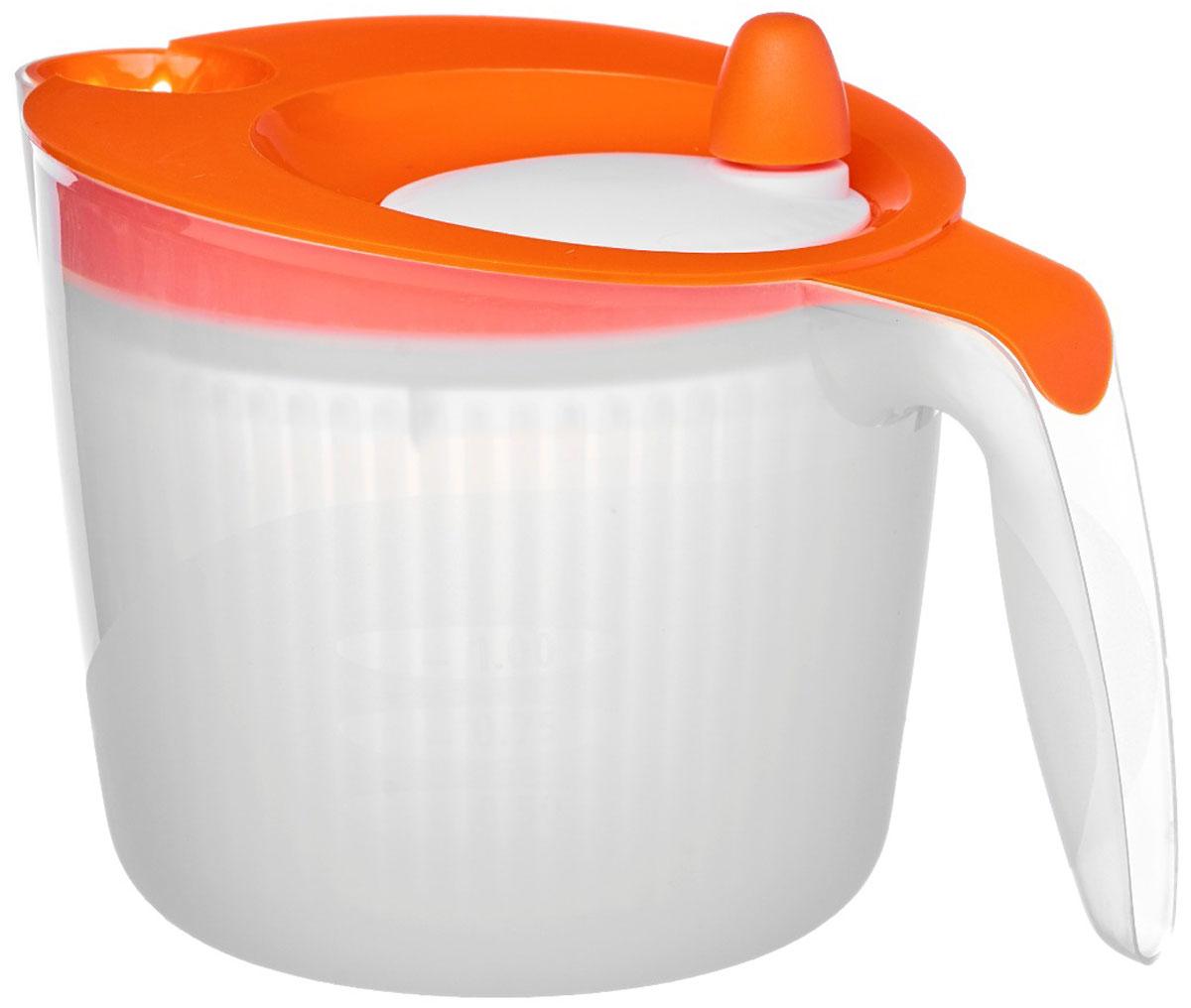 Сушилка для салата Walmer Rainbow, цвет: оранжевый, 1,8 лW26010018_оранж