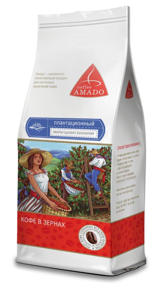 Amado Марагоджип Бразилия кофе в зернах, 200 г4607064135196Марагоджип Бразилия - кофе, выращенный на высокогорье штата Минас-Жерайс, имеет богатую палитру вкуса и аромата. Ягоды этого сорта при созревании имеют яркий желтый цвет, оттуда и название Yellow Maragogype. Вы почувствуете яркий фруктовый вкус в чашке, с приятной сладостью, мягкой кислинкой и нежным цветочным послевкусием. Рекомендуемый способ приготовления: по-восточному, френч-пресс, гейзерная кофеварка, фильтр-кофеварка, кемекс, аэропресс.