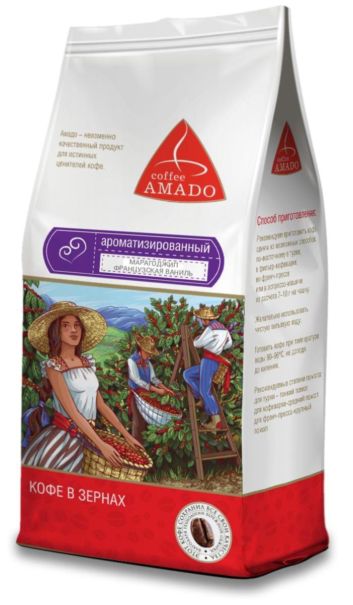 Amado Марагоджип Французская ваниль кофе в зернах, 500 г4607064135561Изысканное сочетание тонких ноток ванили с насыщенным вкусом кофе Марагоджип. Рекомендуемый способ приготовления: по-восточному, френч-пресс, гейзерная кофеварка, фильтр-кофеварка, кемекс, аэропресс.