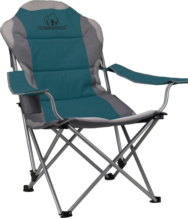 Кресло складное Greenwood, 3-позиционное, цвет: зеленый. FCG-02 336072