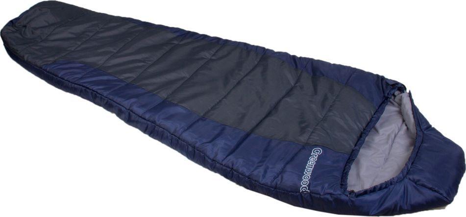 """Спальный мешок Greenwood """"RS FS-1012"""", цвет: синий, серый, левосторонняя молния 336043"""