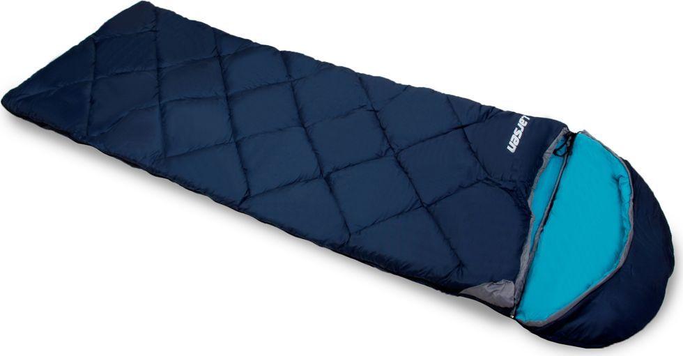 Спальный мешок Larsen RS 350L-1, цвет: синий, голубой, левосторонняя молния336094Внутренний материал: полиэстер SILK TOUCH Конструкция: одеяло+капюшон Размеры: 180 х 40 х 75 см Вес: 1,80 кг Внешний материал: полиэстер 70D/190T W/R CIRE Наполнитель: холлофайбер, 350 г/кв. м Максимальная температура: + 5°С Температура комфорта: 0°С Экстремальная температура: - 5°С Съемный капюшон: + Замок для присоединения дополнительного спальника: +