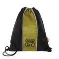 """Сумка для сменной обуви  """"57 Route """", цвет: черный, желтый."""