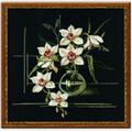 В набор входит шерстяное мулине Риолис (15 цветов),канва х/б (Белоруссия, 60 кл на 10 см) черного цвета...