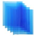 Набор обложек для тетрадей и дневников `Action`, цвет: синий, 21 см х 34,6 см, 5 шт