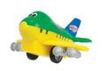 Dickie Toys Игрушка инерционная Веселый самолет цвет зеленый желтый