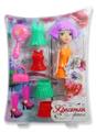 1TOY Кукла Красотка Фэшн с одеждой цвет платья оранжевый