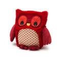 Мягкая игрушка-грелка Warmies `Совенок`, цвет: красный