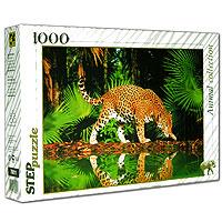 Леопард у воды. Пазл, 1000 элементов