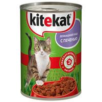 """Консервы для кошек Kitekat """"Домашний обед"""", с печенью"""