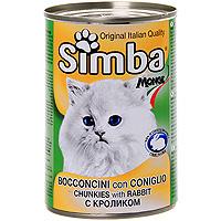 """Консервы для кошек """"Simba"""", с кроликом"""