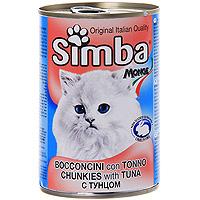"""Консервы для кошек """"Simba"""", с тунцом"""
