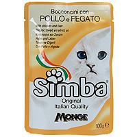 """Консервы для кошек """"Simba"""", цыпленок с печенью"""