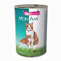 """Консервы для кошек """"MonAmi"""", нежное мясное рагу"""