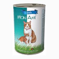 """Консервы для кошек """"MonAmi"""", с рыбой"""