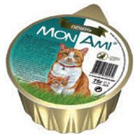 """Консервы для кошек """"MonAmi"""", паштет с печенью"""