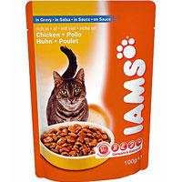 """Консервы для кошек """"Iams"""", с курицей"""