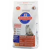 """Корм сухой Hill's """"Senior Hairball Control"""" для выведения комков шерсти из ЖКТ, для кошек старше 7 лет, с курицей"""