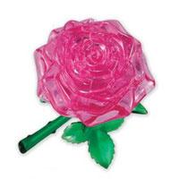 """Головоломка 3D """"Роза"""", цвет: розовый"""