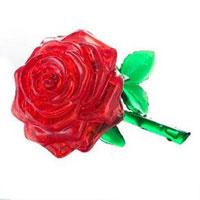 """Головоломка 3D """"Роза"""", цвет: красный"""
