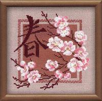 Набор для вышивания крестом Весна