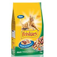 """Корм сухой """"Friskies"""" для кошек, с кроликом, птицей и овощами"""