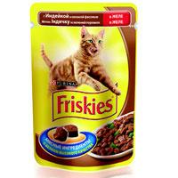"""Консервы для кошек """"Friskies"""", с индейкой и зеленой фасолью"""