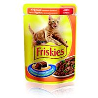 """Консервы для кошек """"Friskies"""", с курицей и зеленой фасолью"""