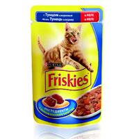 """Консервы для кошек """"Friskies"""", с тунцом и морковью"""