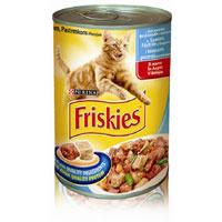 """Консервы для кошек """"Friskies"""", с лососем, форелью и овощами"""