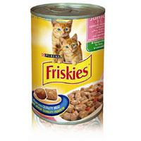 """Консервы Friskies """"Junoir"""" для котят, с курицей, индейкой и овощами"""