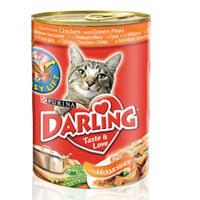 """Консервы """"Darling"""" для кошек, с курицей и зеленым горохом"""