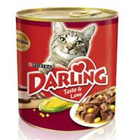 """Консервы """"Darling"""" для кошек, с мясом и кукурузой"""