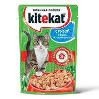 """Консервы для кошек """"Kitekat"""", с рыбой"""