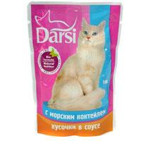 """Корм консервированный """"Darsi"""", с морским коктейлем в соусе"""
