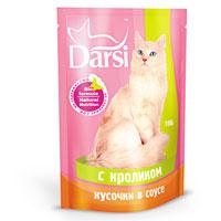"""Консервы """"Darsi"""", для кошек, с кроликом в соусе"""