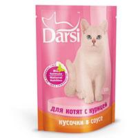 """Консервы """"Darsi"""", для котят, с курицей в соусе"""